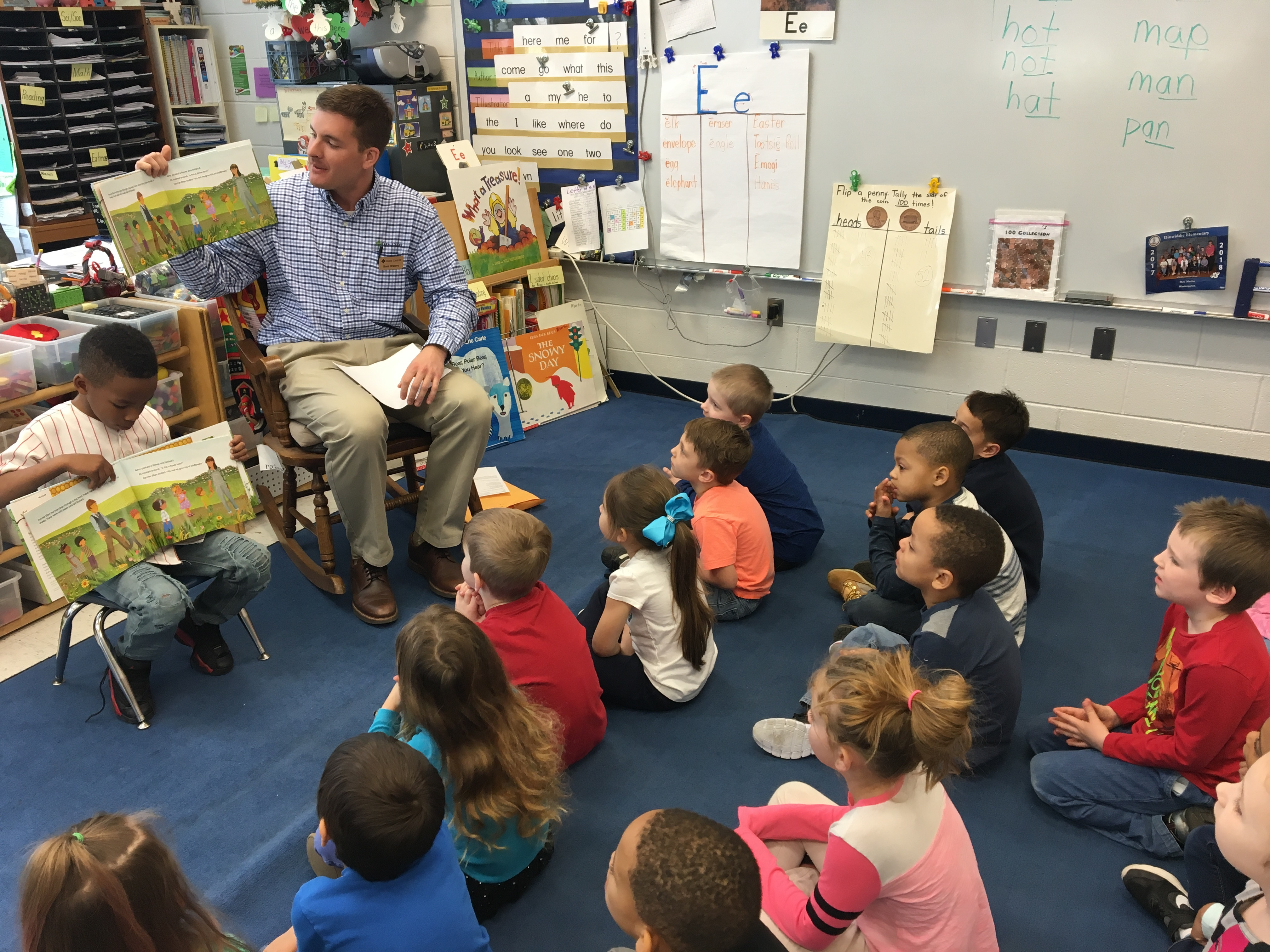 Colonial Farm Credit employee read to local youth for Ag in the Classroom's Agriculture Literacy Week.