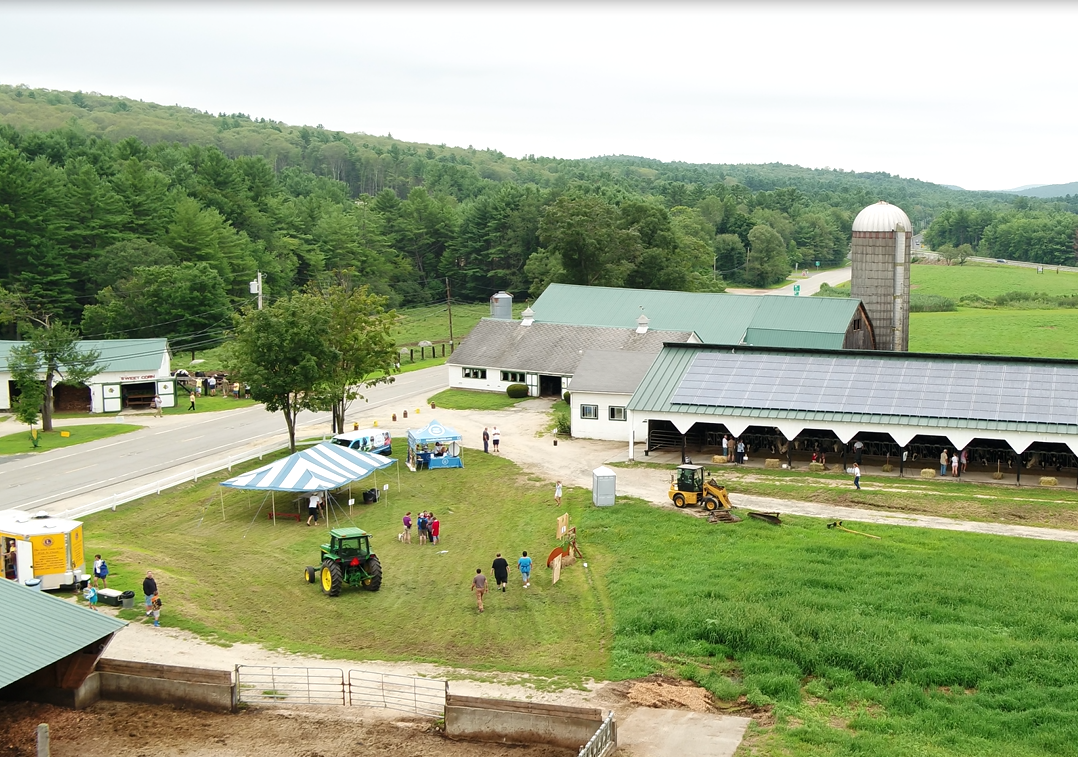 "Community members attend an ""Open Farm Day"" organized by Heather Hunt during her participation in YDLI."