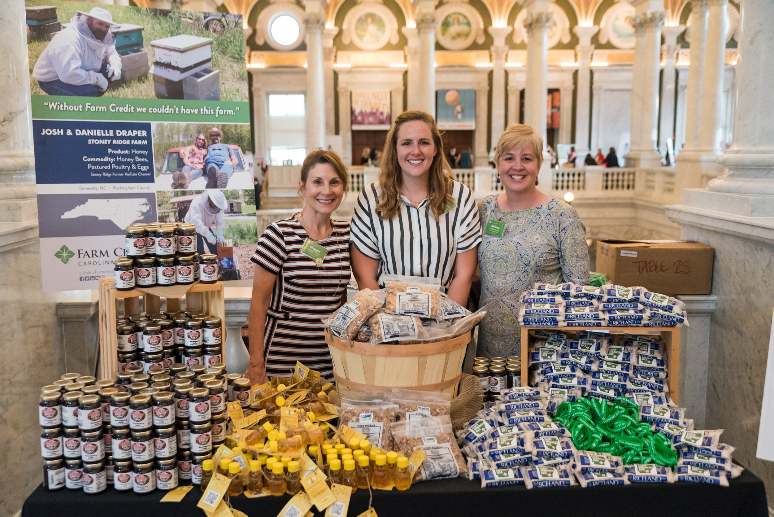 Farm Credit customers display their product during the fly-in at the Library of Congress