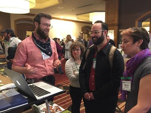 Conference attendees learn how to use the Finding Farmland Calculator.
