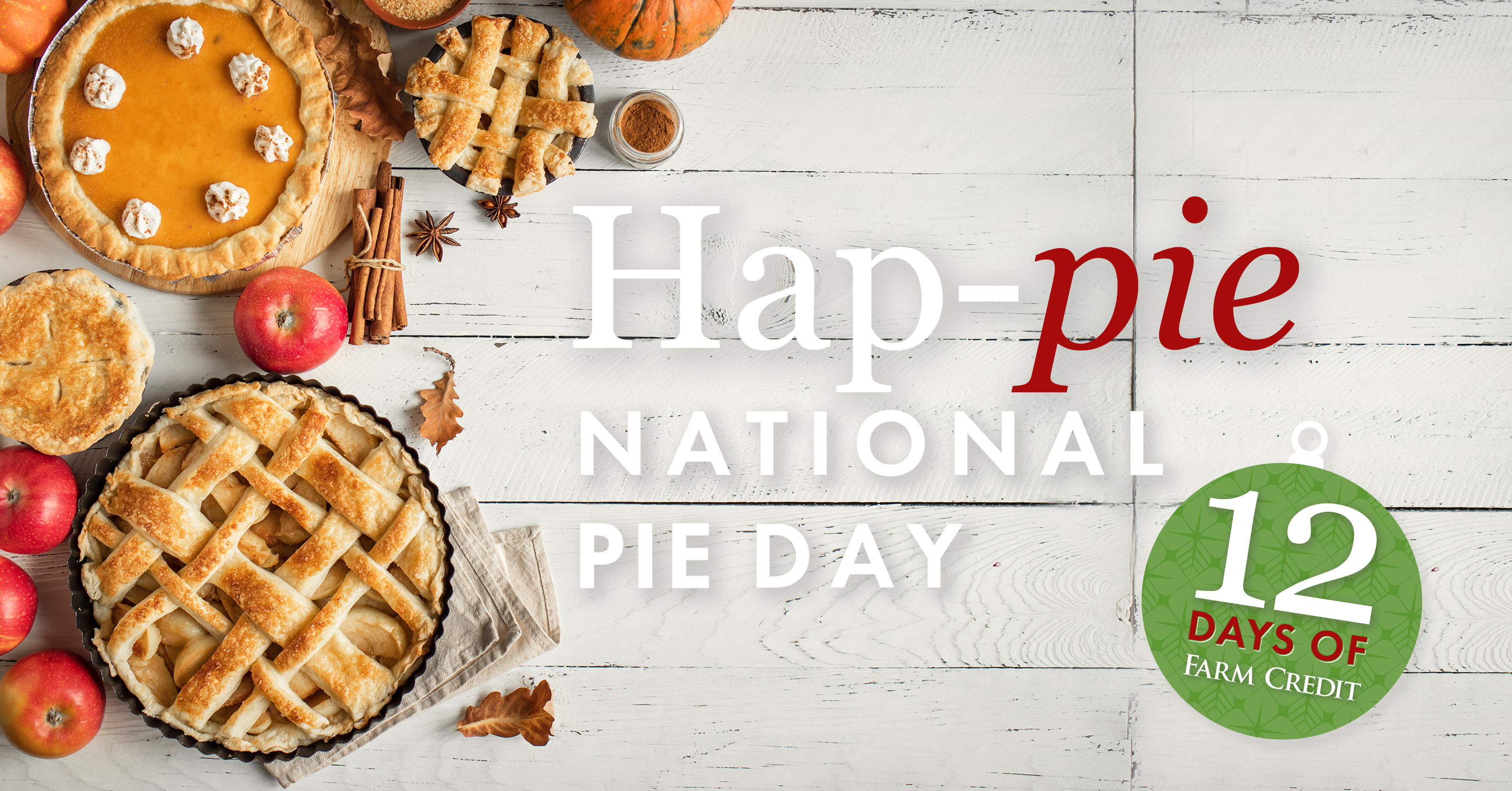 pie day graphic with apples and pumpkin pie